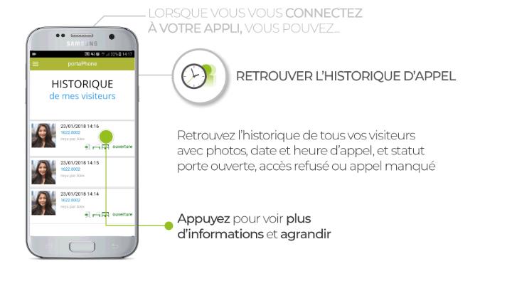Application Portaphone - historiques
