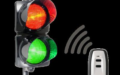 Feu de signalisation bicolore radio