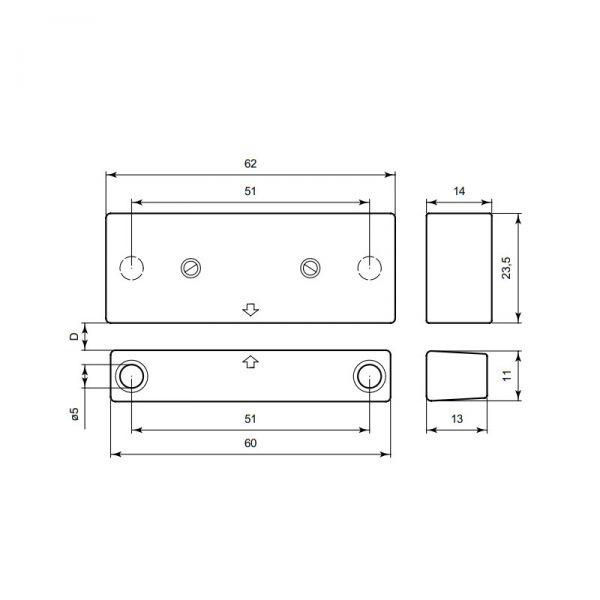 contact magnétique portes et fenêtres 400FR