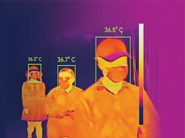 Vigi'lens TD solutions vidéo de contrôle de température corporelle et de présence de masque